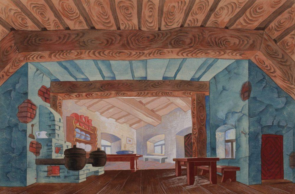 Stasys Ušinskas, Vilniaus miesto teatras, scenovaizdžio eskizas