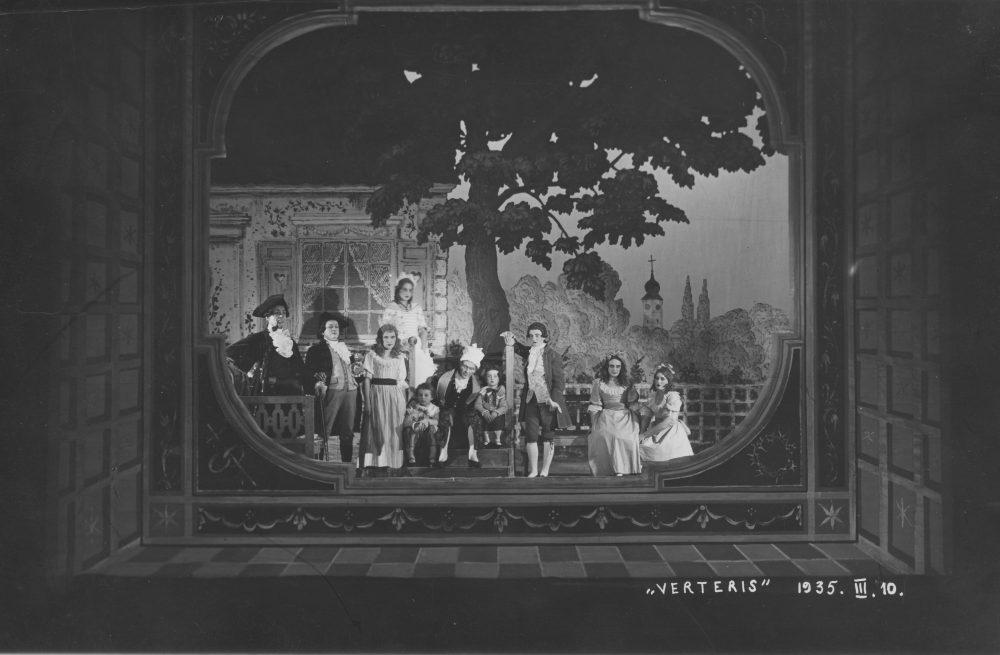"""opera """"Verteris"""", Mstislavas Dobužinskis, Stasys Dautartas, Petras Dargis, Antanas Kučingis"""