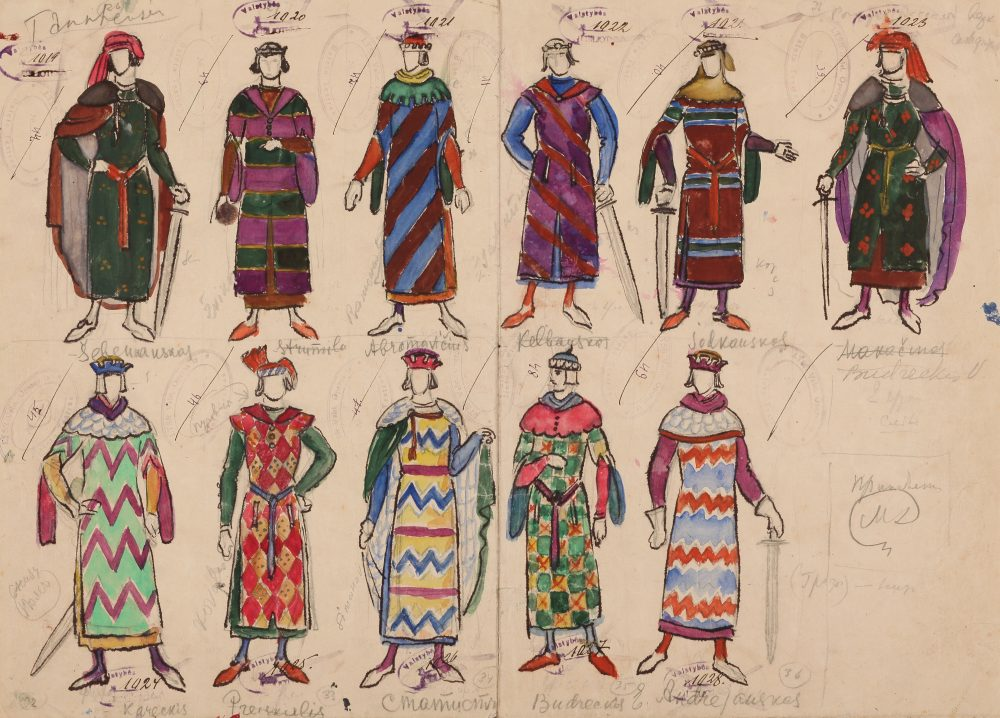 "Opera ""Tanhoizeris"", Mstislavas Dobužinskis, kostiumo eskizas"