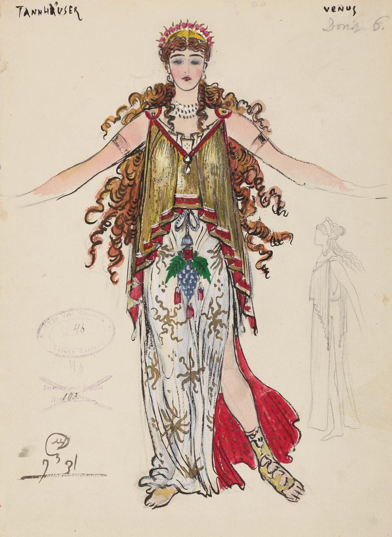 Veneros kostiumo eskizas, Mstislavas Dobužinskis